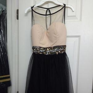 Like new, Ruby Rox dress, size 5, pink & black
